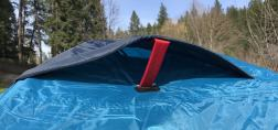 This image shows the Orion tent roof vent.