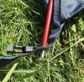 The image shows the Cabela's Orion backpacking tent pole system at the corners.