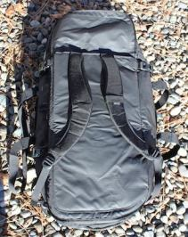 This image shows the backpack straps on the The REI Co-op Big Haul 120 Duffel bag.