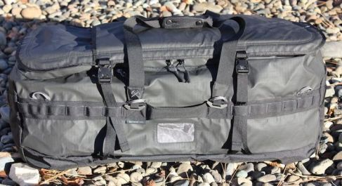 This photo shows the REI Co-op Big Haul Duffel bag lengthwise.