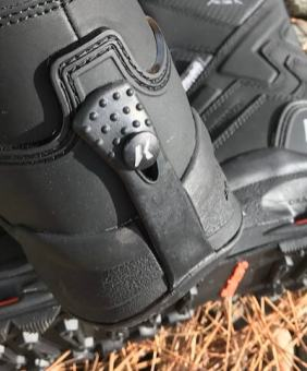 This photo shows the heel of the Korkers Polar Vortex 600 boot.