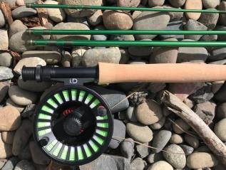 This image shows the Redington VICE rod with the Redington i.D reel.