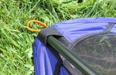 This image shows the REI Co-op Flexlite Macro Camp Chair back.