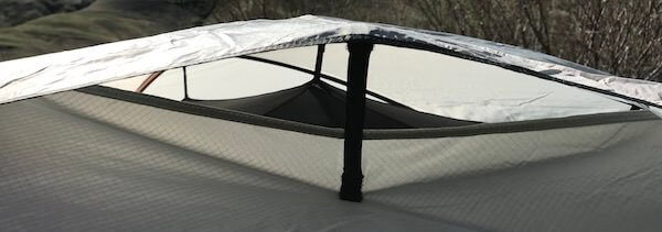 This REI Co-op Half Dome 4 Plus review photo shows the vent system.