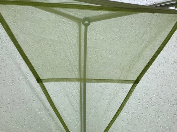 This photo shows the Big Agnes Fly Creek HV2 Platinum tent gear loft.