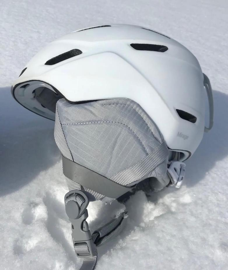 This Smith Mirage review photo shows the Smith Mirage Snow Helmet for skiing and snowboarding.