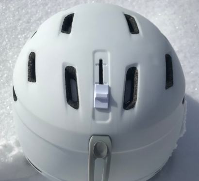 This Smith Mirage review photo shows the vent adjustments on the Smith Mirage ski and snowboard helmet.