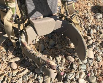 This photo shows the Mystery Ranch Mule pack's hip belt.