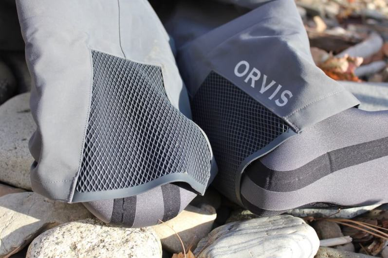 This photo shows the new gravel guards on the Orvis PRO Wader.