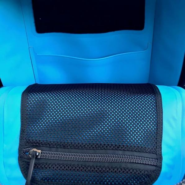 This photo shows the YETI Panga Backpack 28 interior pockets.