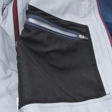 This photo shows the left side interior pocket on the Stio Environ Jacket.