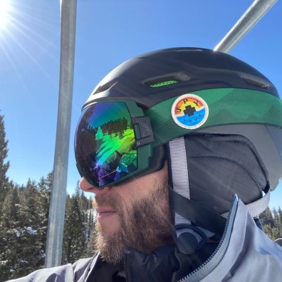 This photo shows the side view of the SPY Legacy Ski Goggle.