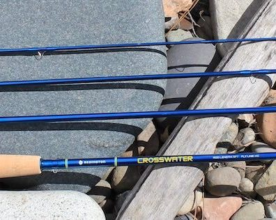 This photo shows the Redington Crosswater Fly Rod in four pieces.