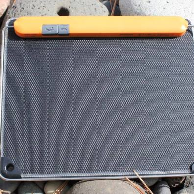 This photo shows the rear ports on the BioLite SolarPanel 10+.