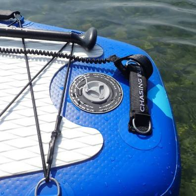 This photo shows the valve on the Infinite iSUP paddle board.