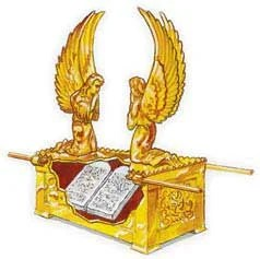 The Ten Commandments were inside the ark. They represent God's character, which He implants within His people.