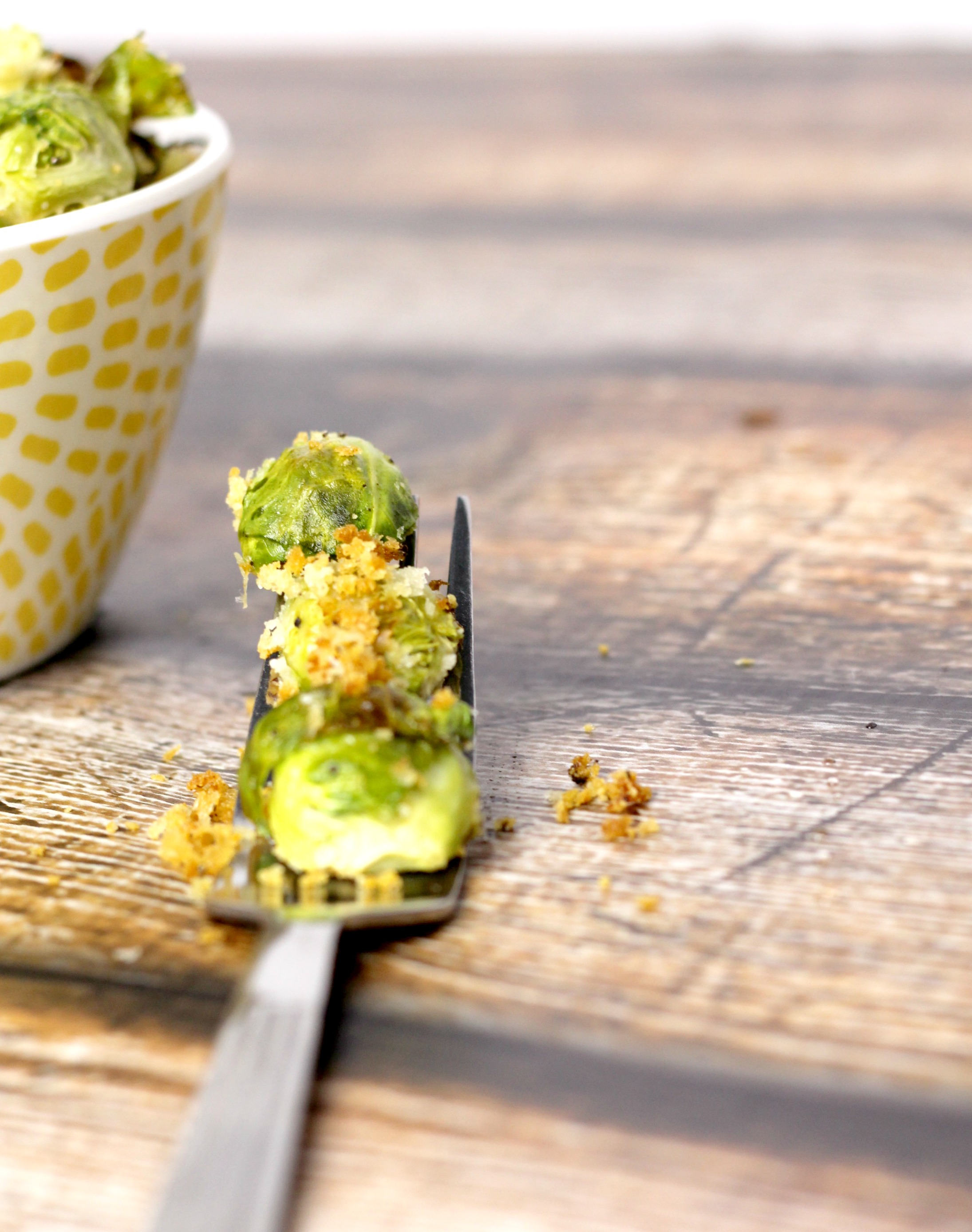parmesan panko brussels sprouts