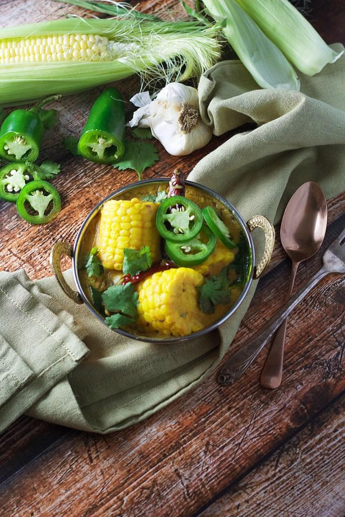 Succulent Corn Kadhi (Curry) www.mannaandspice.com