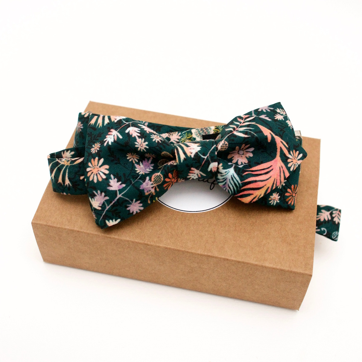 Noeud papillon Liberty Crochet meadow green