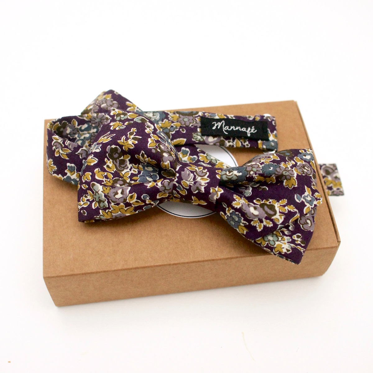 Noeud papillon Liberty Tatum prune