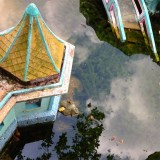 Reflection in the water @ Haw Par Villa, Singapore