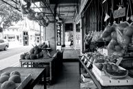 A small greengrocer in a shophouse