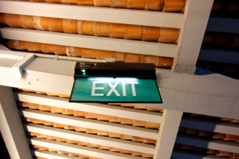 Sign: Exit