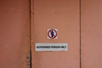 Sign: Restriction