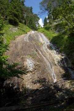 Cascade on a big rock, Mariazeller Gegend, Austria