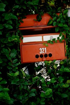 Red old letter box