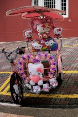 Colorful Hello Kitty Trishaw
