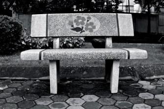 Park bench in Hanoi
