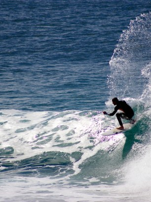 Off the lip at Burleigh