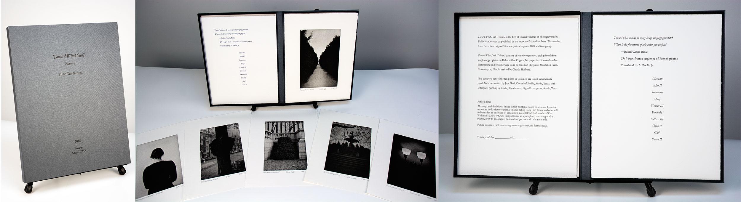 Philip Van Keuren, photogravure, Toward What Sun?, Manneken Press, portfolio