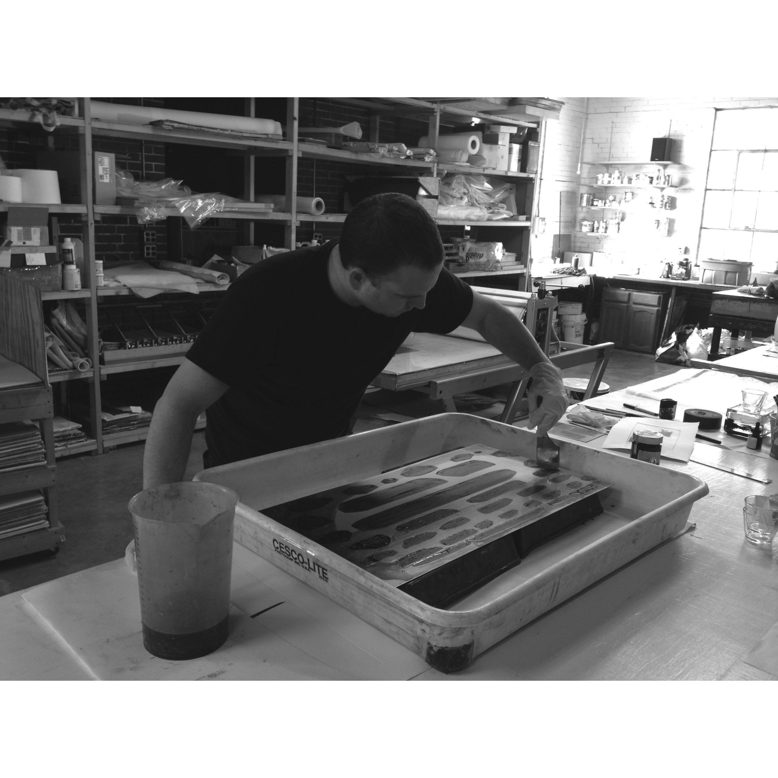 Brian Cypher at Manneken Press, 2013
