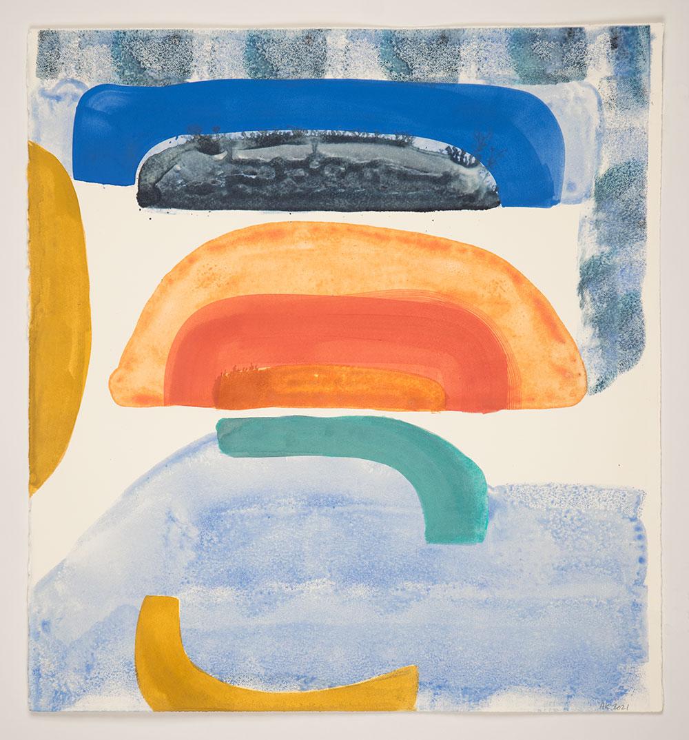 "Anna Kunz: ""Ebb Tide"", 2021. Monotype, 22"" x 20"". Published by Manneken Press."