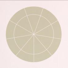 """Array 350/Gray-Green"", 2006. Woodcut, edition of 20. 350 mm diameter/19"" x 19""."