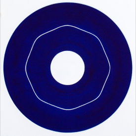 """Iris/5"", 2000.  Etching, edition of 20. Image: 10"" diameter, paper: 11"" x 11""."