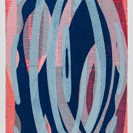 """""""Untitled"""", 2015. Monotype on paper. 60"""" x 22""""."""
