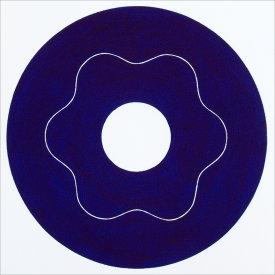 """Iris/4"", 2000.  Etching, edition of 20. Image: 10"" diameter, paper: 11"" x 11""."