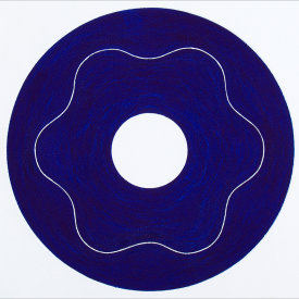 """Iris/3"", 2000.  Etching, edition of 20. Image: 10"" diameter, paper: 11"" x 11""."