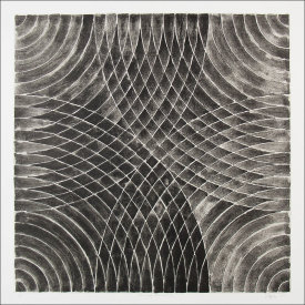 """Arcs & Semicircles ll"", 2003. Lithograph with chine colle', edition of 12. Image: 24"" x 24"", paper: 30"" x 30""."