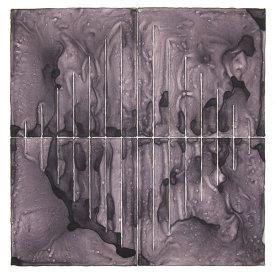 """""""Black Diamond"""", 2013. Monotype. Image: 16"""" x 16"""", paper: 20"""" x 20""""."""