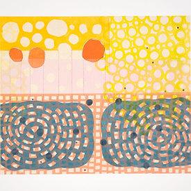 """Rain. Ponds. Pools"", 2021. Monotype, chine collé. Image: 16 1/2"" x 20 1/2"", paper: 22 1/2"" x 26""."
