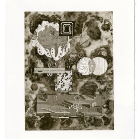 """""""Document VII"""", 2020. Etching and aquatint, edition of 10. 15"""" x 12""""."""