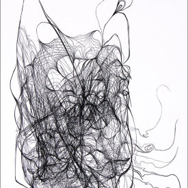 """""""Nest 918"""", 2008.  Etching, edition of 20. Image: 20"""" x 16"""", paper: 25"""" x 21""""."""