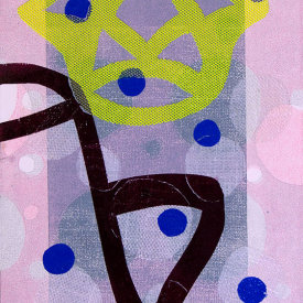 """Untitled"", 2012. Monotype on fabric and paper. 22"" x 15""."