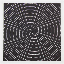 """Radial Symmetry l"", 2004. Linoleum cut, edition of 12. Image: 18"" x 18"", paper: 22 ½"" x 22 ½""."