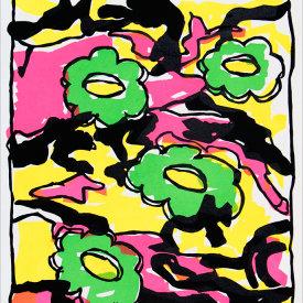 """Camo Cookie"", 2005. Linoleum cut, edition of 20. 22"" x 20""."