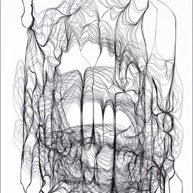 """""""Nest 920"""", 2008.  Etching, edition of 20. Image: 20"""" x 16"""", paper: 25"""" x 21""""."""